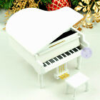 Wooden Piano Music box from Sankyo Musical Movement with 20 Melodies (White)