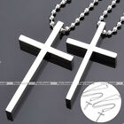 """19"""" Couple Lover Stainless Steel Polish Classic Cross Pendant Chain Necklace HOT"""