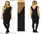 RRP £65 NEW LADIES BLACK SEQUIN BEADS SPARKLY EMBELLISHED EVENING PARTY DRESS