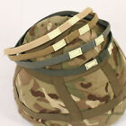 Helmet scrim band with luminous cats eyes. Green, Coyote, Foliage, Tan