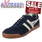 Gola Mens Classics Harrier Premium Suede Retro Trainers Navy * AUTHENTIC *
