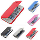 iPhone 4s/5s/5c Ultra Thin Slim Magnetic Folio Flip Leather Back Case Cover et