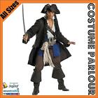 New Mens Pirate Buccaneer Jack Sparrow Caribbean Fancy Dress Costume All Sizes