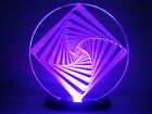 OPTICAL ILLUSION Square Vortex - USB or Phone Charger Powered LED Light