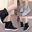Winter New Women Ladies Lace Up Sneakers Buckle Strap Sports Shoes Casual Flats