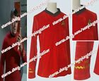 Star Trek TOS Engineering Cosplay Costume Top Red T-Shirt Velour High Quality