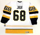 JAROMIR JAGR PITTSBURGH PENGUINS CCM VINTAGE WHITE ROOKIE STYLE JERSEY NEW