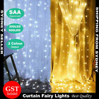 SAA 3M x 3M 6M x 3M 300 LED Curtain Lights Fairy String Light Wedding Christmas