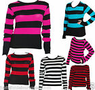 STRIPE JUMPER 80'S FANCY DRESS GOTH EMO