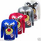 LADIES MENS UNISEX CHRISTMAS XMAS SWEATERS JUMPERS REINDEER RUDLPH SCARF JUMPER