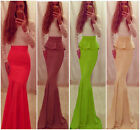 NEW Women's Sexy Lace Splice Full-Length Nightclub Dresses Evening Ball Gowns