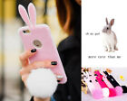 New 3D Furry Kitty Rabbit Case Skin Cover For iPhone 6/6 Plus 5/5S S5 Note 3 4