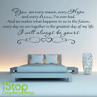 I WILL ALWAYS BE YOURS WALL STICKER QUOTE - BEDROOM LOUNGE WALL ART DECAL X290