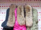 Star Sought Russia raccoon fur Down jacket collar Natural Yellow Brand New