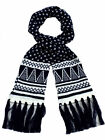 Ladies Acrylic Navy Aztec Design Scarves.Christmas Gift Idea.
