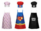NEW KIDS PVC COTTON CHEF APRON SET WITH MATCHING CHEF HAT