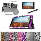 Slim Folio Premium Leather Case Stand Cover for Verizon Ellipsis 8 4G LTE Tablet