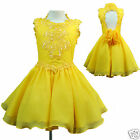INANT & GIRL PAGEANT FLOWER GIRL DANCE PARTY SHORT DRESS YELLOW 1 2 3 4 5 6 7