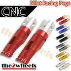 Billet CNC Racing Front / Rear Pegs Foot Rests for Ducati Monster 696 2008-2012