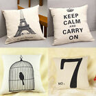 "Comfortable 17"" Square linen Throw Pillow Cases Home Decorative Cushion Cover"