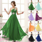Stylish One Shoulder Chiffon Party Ball Gown Prom Bridesmaid Dresses Charming