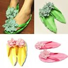 New summer womens Flip flops Beach slippers Personalized Leaves flowers slippers