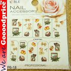 Color Printing Water Tranfer Nail Art Stickers Gift Christmas Style 6-18