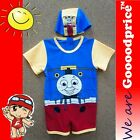 Baby Child Bathing Swimwear One-Piece With Cap Cantoon Railway Style Size Chart