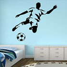 FOOTBALLER TRANSFER WALL ART BOYS BEDROOM SPORT STICKER DECAL FOOTBALL VINYL