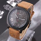 CURREN Men's Watches Sport Men Military Leather Strap Wrist Quartz Watch 8139