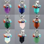 Hot Gemstone Stone 7 Healing Chakra Pendulum Bead Charms Pendant Fit Necklace