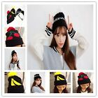 Women's Rabbit Fur Warm Knitting Wool Beret Ski Beanie Ball Hat Caps Chic -CB