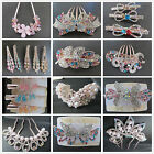 Lot Fashion Jewelry Rose Gold Rhinestone Butterfly Bowknot Comb Hair Accessories