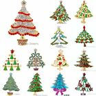 Gorgeous NEW FASHION RHINESTONE CRYSTAL BIG CHRISTMAS TREE PIN BROOCH WEDDING