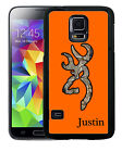 PERSONALIZED RUBBER CASE FOR SAMSUNG S8 S7 S6 S5 EDGE PLUS ORANGE CAMO DEER HEAD