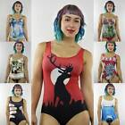 DIGITAL Theme SWIMSuit BATHERS ELK Shark Cartoon BODYSUIT One-Piece Bikini 8-12
