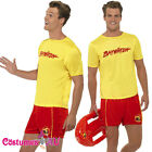 Mens Baywatch Lifeguard Costume Short Jacket Licensed Beach Outfit Fancy Dress