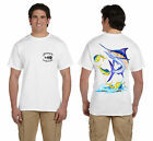 ANGLER WEAR SALTWATER FISHING T-SHIRT MARLIN MAHI MAHI 2036230