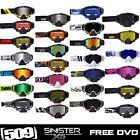 509 SINISTER X5 SNOWMOBILE GOGGLES (NEW 2015 STYLES) FOG FREE DUAL PANE LENS