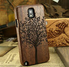 Natural Tree Wood Bamboo Cover Case For Samsung Galaxy Note 3/4 S3/4/5 IPHONE