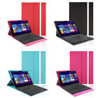 Portfolio PU Leather Stand Case W/ Keyboard Case For Microsoft Surface Pro 3/2/1
