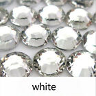 50000p Resin rhinestone 14 facets white / crystal flatback beads DIY decoration