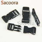 "3/8""(10mm) Flat Side Release Mini Buckles For Paracord Bracelet Black"