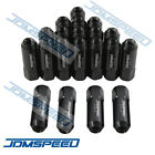 JDMSPEED 20PC BLACK M12X1.5 60MM EXTENDED FORGED ALUMINUM TUNER RACING LUG NUTS