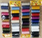 50 Spools Sewing Thread Polyester Assorted Colors 200 yards each Spool - NEW