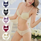 Z New Deep V Sexy Women Lady Lace Decro Push Up Bra Underwire Outfit Set 32B-36B