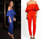 Women Sexy Falbala Jumpsuits Cocktail Rompers High Waist Pant Siamese Trousers