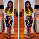 Womens Sexy Two Piece Set Crop Top and Skirt Party Bodycon Clubbing Ladies Dress