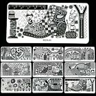 LONG Nail Art DIY Image Stamping Device Steel Plate Manicure Template 32 Types