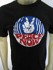 Peace not War vintage button style party tee shirt men's black choose A size